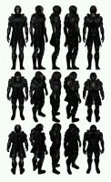 Mass Effect 3, MP N7 Slayer Vanguard Ref. by Troodon80