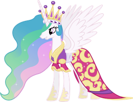Princess Celestia's Coronation Dress by 90Sigma