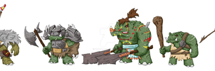 Videogame Concept Art - Faction - Orcs. by yaddar
