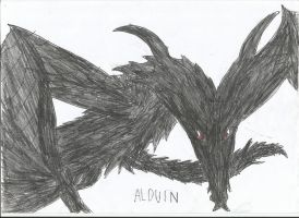 Alduin the world eater by smaugthegolden123