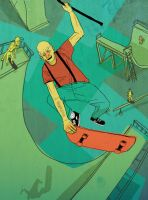 Skateboardin gramps by zohar