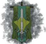 Decorative Sword and Banner by ashenmoons