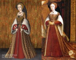 Jane Seymour+Tudor Dynasty Portrait by LadyAquanine73551