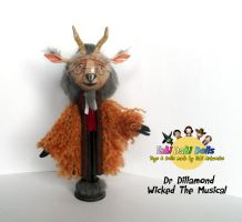 dr dillamond peg doll by tombirrellart