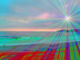 Light On Rainbow Beach by ThereseCat