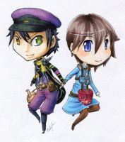 Seto and Crow by BettyPimm