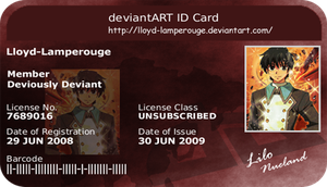 My Deviant ID by Lloyd-Lamperouge