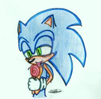 Sonic with Lolli pop cloured by shadshad121