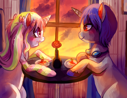 A Date By Sunset by Cherkivi