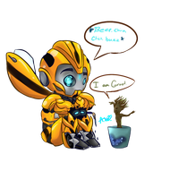 Bee and Groot by Warriocat12