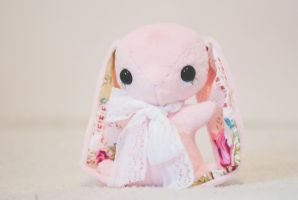 Belle - Handmade Teacup Bunny Plushie by tiny-tea-party