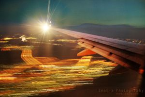 lights thru my wings... by leographics