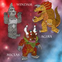 Ultraseven Chibi Capsule Kaiju by earthbaragon