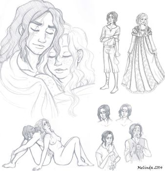 Roberto and Lisabetta sketch dump by Lady-of-the-Evening