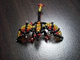 Rainbow Flame Bead Dragon by Industrial-Pop