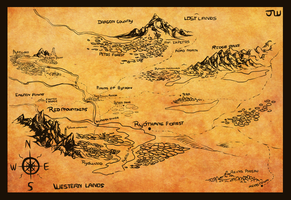 North-west lands map by AgentWhiteHawk