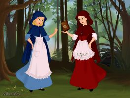 Snow White and Rose Red by MedieavalBeabe