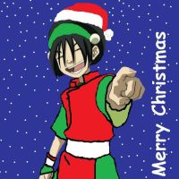 Toph Christmas Icon by theblindbandit1