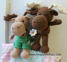 Large Moose Pattern Free by sojala