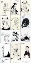 Inktober Compilation 2015 by Sizab
