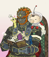 Story Time with Ganon by Michelangeline
