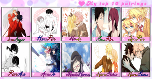 Meme: My top 10 couples 3.0 by Minni-Alice