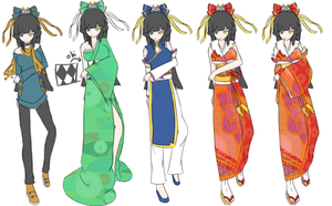 Demi-Goddess Nyte Outfits by MidnightSukioma