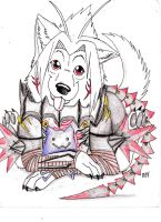 colored haseo pup by Suenta-DeathGod
