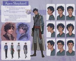 The Silver Eye - Apen Shephard Character Sheet by lostie815