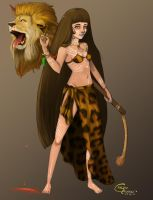 Lion hunting by Velyne