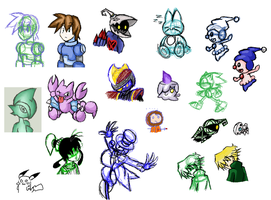 Few old Iscribble doodlz by Doodlz18