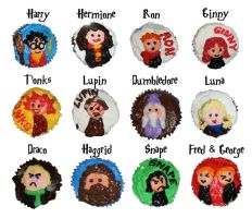 Potter character cupcakes 1 by wotchertonks7