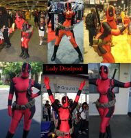 Lady Deadpool Collage by SilverTallest