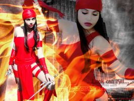 Jay Swan as Elektra by carolmanachan