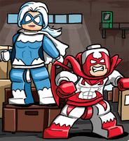 Lego hawk and Dove by Pusskyfly