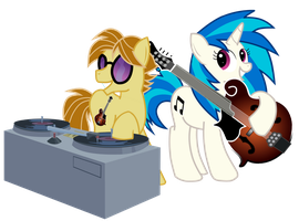 V-Scratch Sessions: Gift for Mandopony by WillowTails