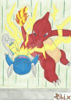 Thunder Punch Charmeleon by RiderRhix