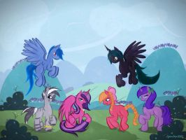 Commission: The yearling six by AquaAngel1010