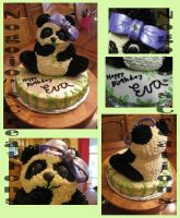 Panda Cake for friend's Birthday by Nogojo