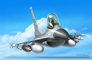 F16 Falcon by Loopydave