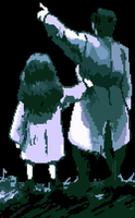 Pixel - Olive and Father 'Princess Maker 2' by TheMidknightStar