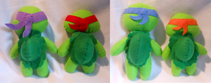 Back View of Turtles! by FuzzyAliens