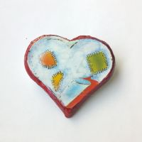 Patch Heart brooch by Sasha-Raskolnikova