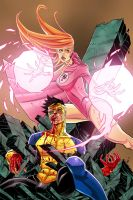 atom eve and invincible by tradd-d4thbdu COLORED by Empienada
