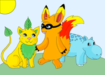 Fakemon: My self created Starters by kovuification