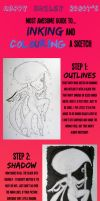 Inking and Colouring Tutorial by happy-smiley-robot
