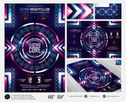 Electro Core Flyer Template by ranvx54