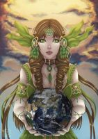 Goddess Gaia by Blue-Fishies