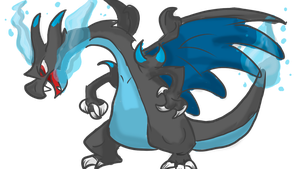 Mega Charizard X by JustoonSmitts