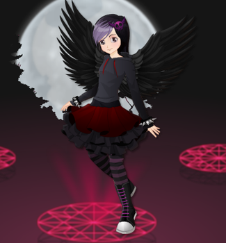 Goth Angel by dialga45